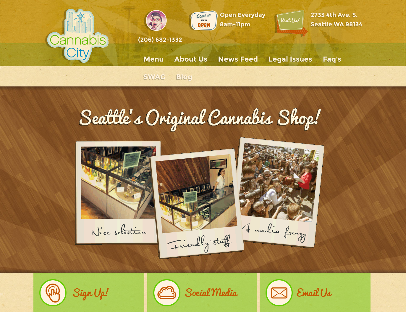 Cannabis City Website Homepage Screenshot