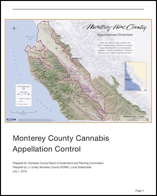 Monterey County Cannabis Appellations Report