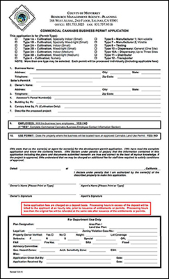 commercial cannabis business permit application