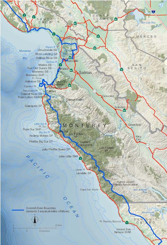 Monterey County Coastal Zone Map